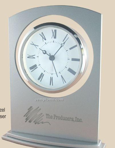 Sprayed Silver Glass Alarm Clock
