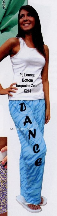 Youth Kashmere Periwinkle Zebra Pj/ Lounge Pants (Xs-l)