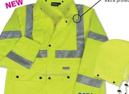 Aware Wear Hi-viz Raincoat - Lime