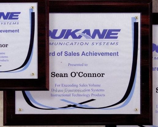 Certificate Frame / Overlay Plaque Kit W/Your Choice Of Finish