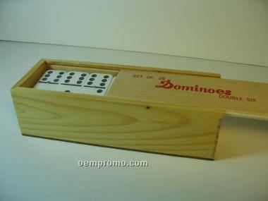 Double 6 Jumbo Domino In Wooden Case