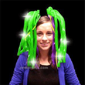 Light Up Hair - Dreads - LED Hairband - Green