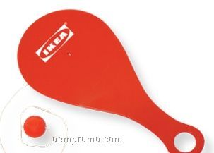 Red Plastic Paddle Ball (Printed)