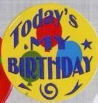 Stock Recognition Button - Today's My Birthday
