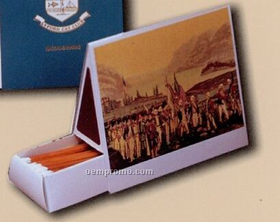 Tent C Custom Table Top Match Box W/ 110 Count Matches (112mmx44mmx95mm)
