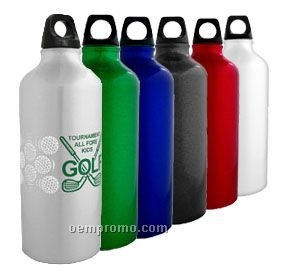 20oz. Aluminum Sports Flask With Speciality Pyrogggrip Ink!