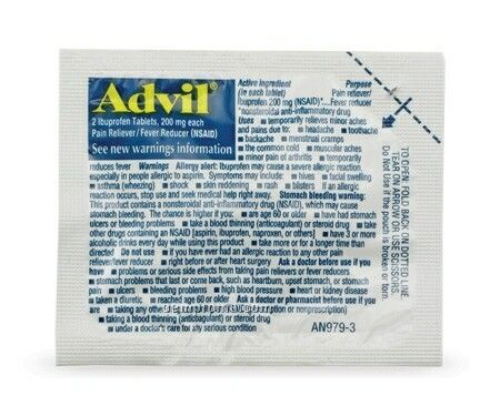Advil Ibuprofen Tablet Packet