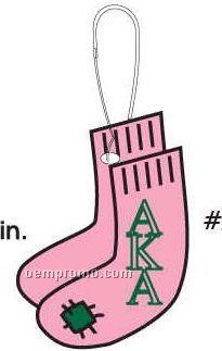 Alpha Kappa Alpha Sorority Socks Zipper Pull