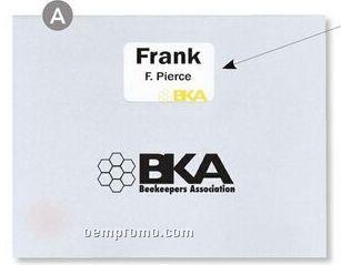 Huge Registration Envelope W/ Window In Black - 1 Color