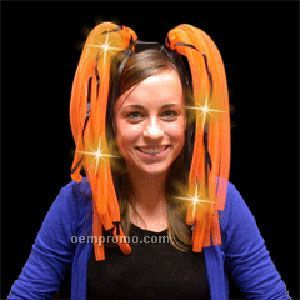 Light Up Hair - Dreads - LED Hairband - Orange - Halloween