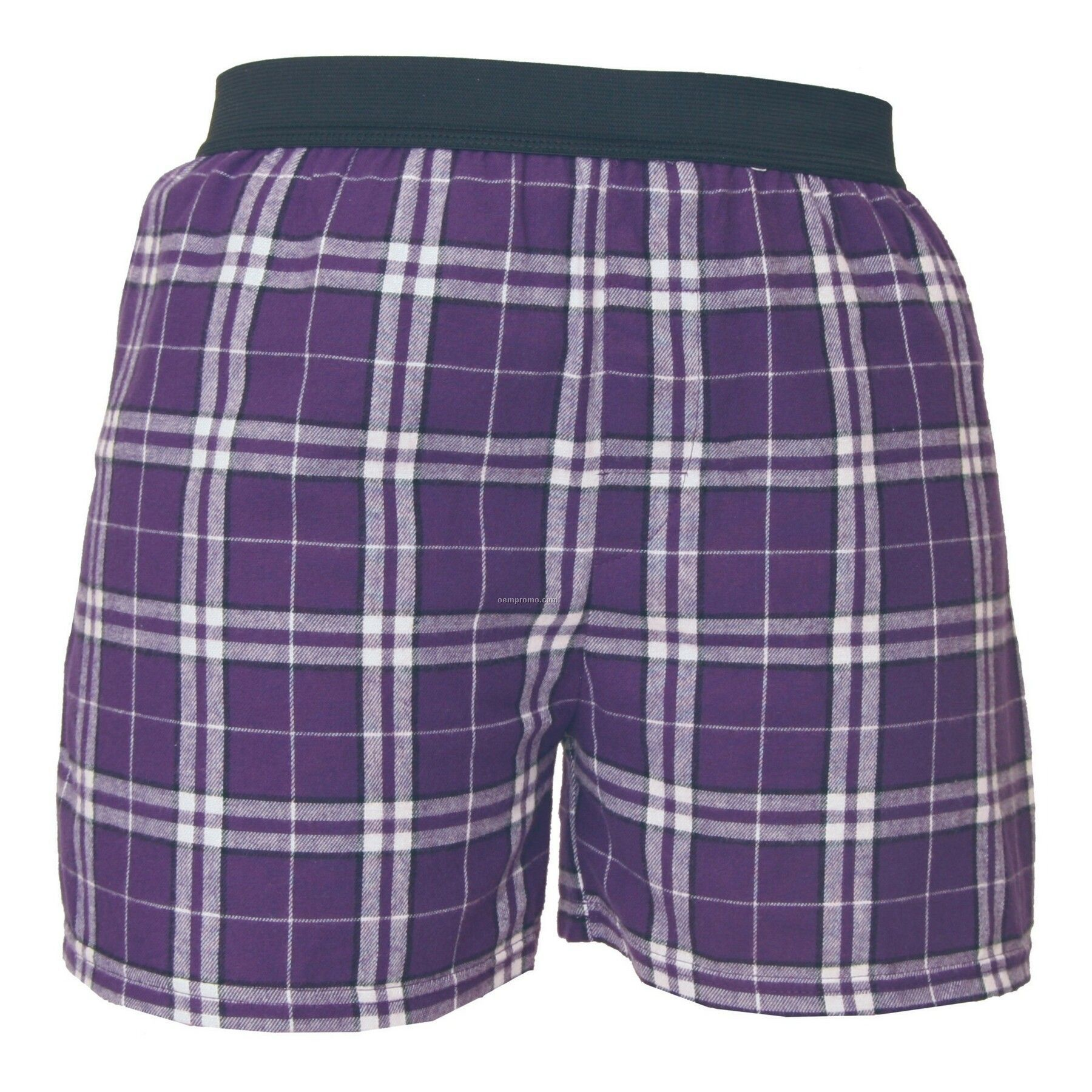 Youth Purple/White Plaid Classic Boxer Short