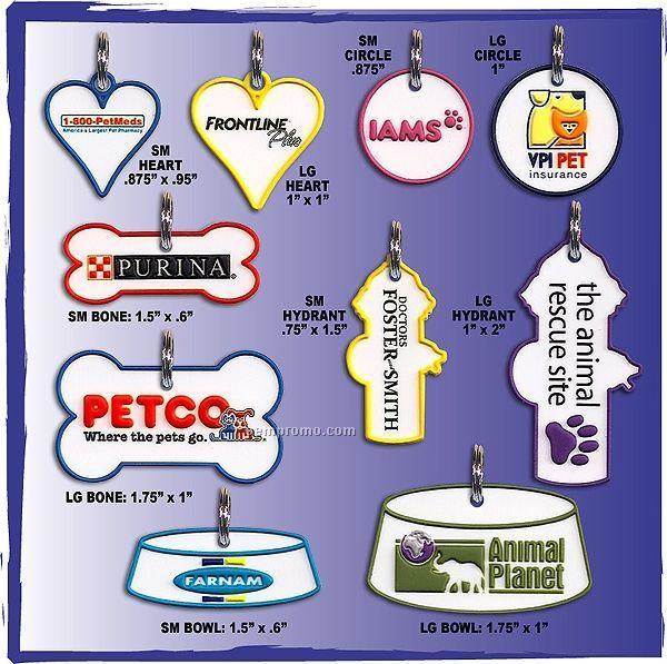 Custom Heart Dog Collar Charms