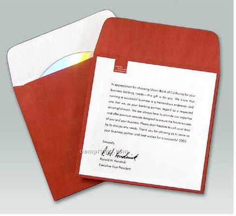 Custom Printed Paper Media Sleeve With Flap (1 Color)