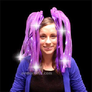 Light Up Hair - Dreads - LED Hairband - Purple