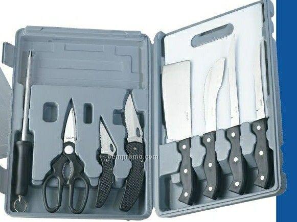 Maxam 10-piece Sportsman Knife Set With Cutting Board (Standard Service)