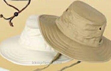 Cotton Canvas Floating Hat W/ Hidden Pocket