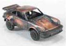 Early American Bronze Metal Pencil Sharpener - Porsche