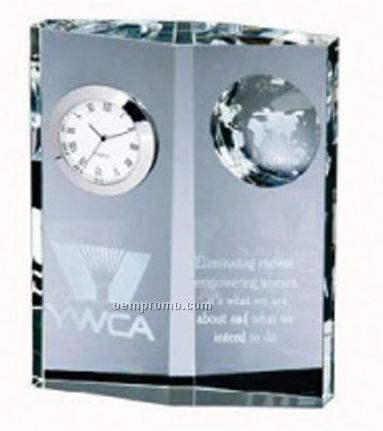 Globe Clock Diamond Plaque