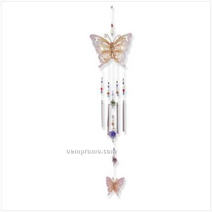Shimmering Butterfly Wind Chime