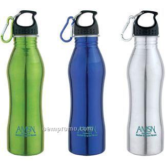 24 Oz. Stainless Steel Sports Bottle W/Carabiner