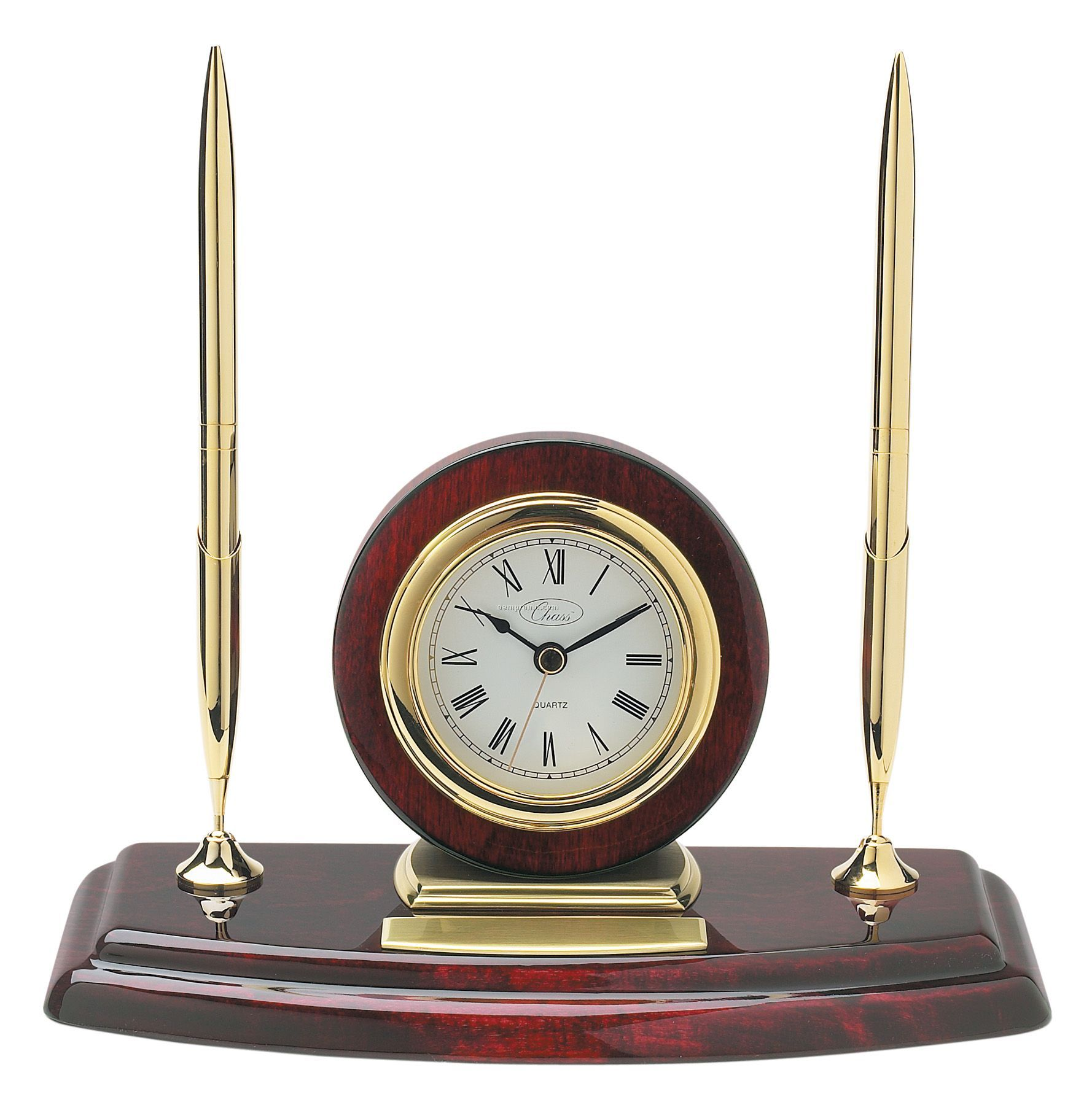 office pen holder. Ambassador Clock / Pen Holder With 2 Pens Office E
