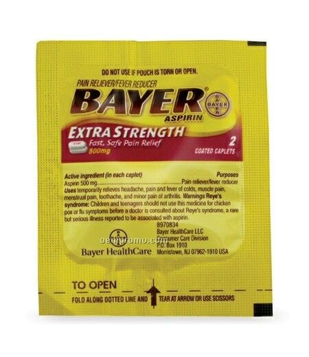 Bayer Extra Strength Aspirin Tablet Packet