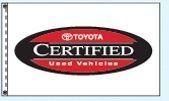 Stock Dealer Logo Flags - Toyota Certified