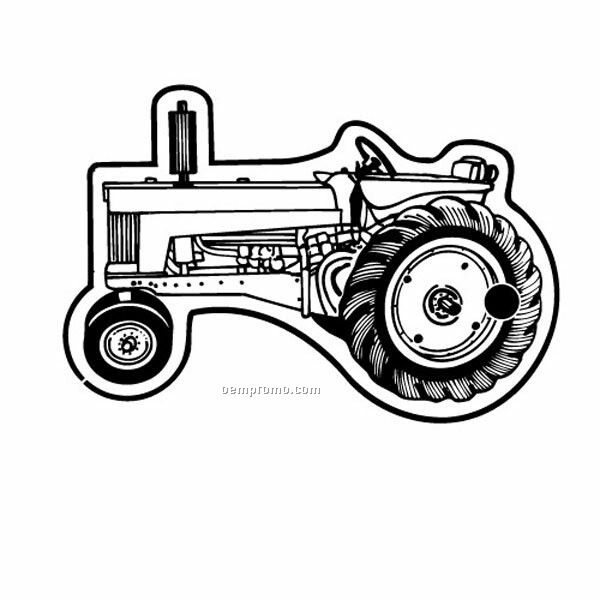 Stock Shape Collection Farm Tractor 6 Key Tag