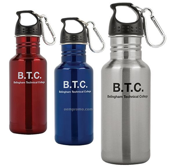 16.9 Oz. Stainless Steel Sports Bottle