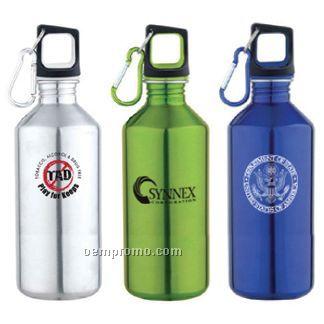 20 Oz. Stainless Steel Sports Bottle W/Carabiner