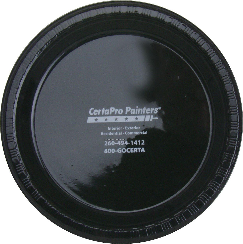 "9"" Round Black Velvet Colorware Paper Plate"
