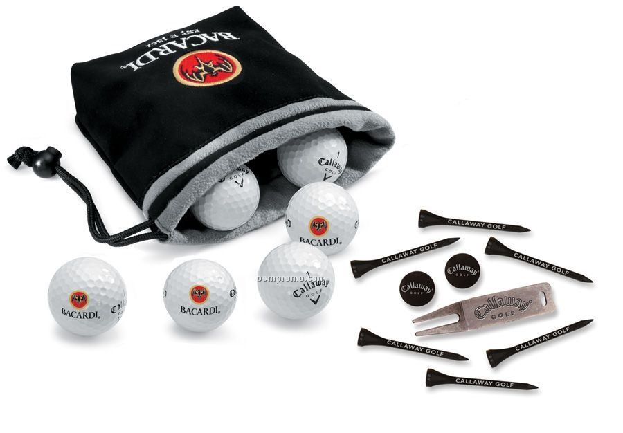 Callaway Tour I (S) 6 Golf Ball Set In Pouch W/ Tees (2011)