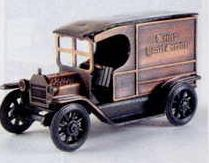 Early American Bronze Metal Pencil Sharpener - Mail Truck