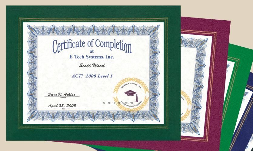 Leatherette Certificate Frame