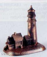 Bronze Metal Pencil Sharpener - Lighthouse