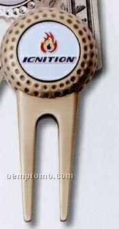 Divot Tool/Money Clip W/ Die Struck Ball Marker