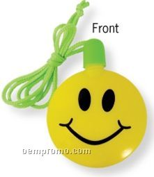 Smile Face Bubble Necklace (Printed)