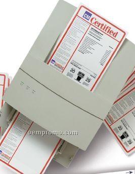 V-t Pre Die Cut Blank Laser Form W/ Kleer Bak (1 Up Per Sheet)