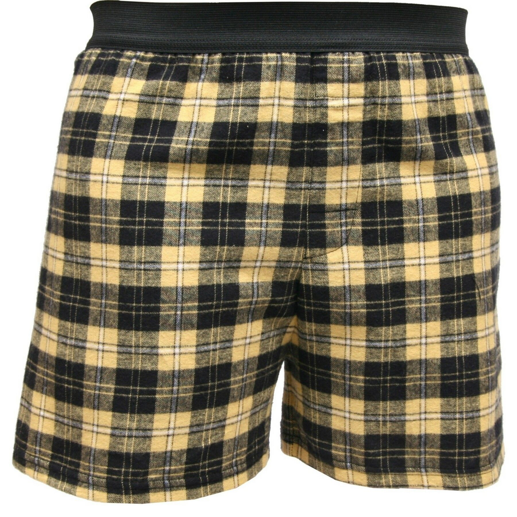 Youth Vegas Gold/Black Diagonal Plaid Classic Boxer Short