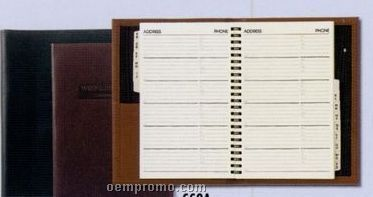 Large Executive Desk Book W/ Address Book (Soft Construction)
