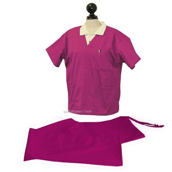 Scrub Top W/ 2 Patch Pocket And Chest Pocket