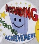 Stock Recognition Button - Outstanding Reading Achievement
