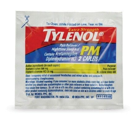 Tylenol PM Nighttime Sleep Aid Caplet Packet
