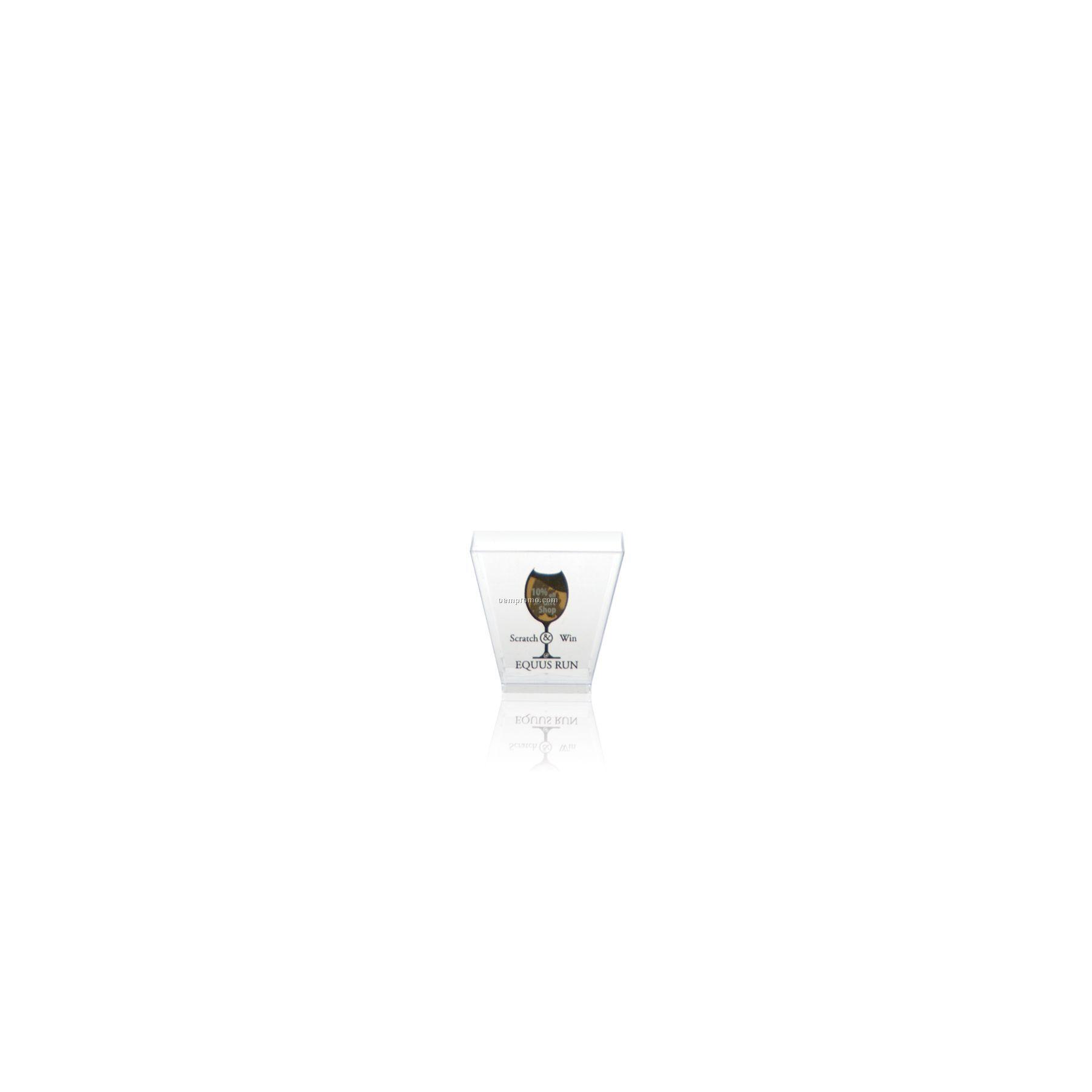 1.75 Oz. Square Clear Plastic Shot Glass