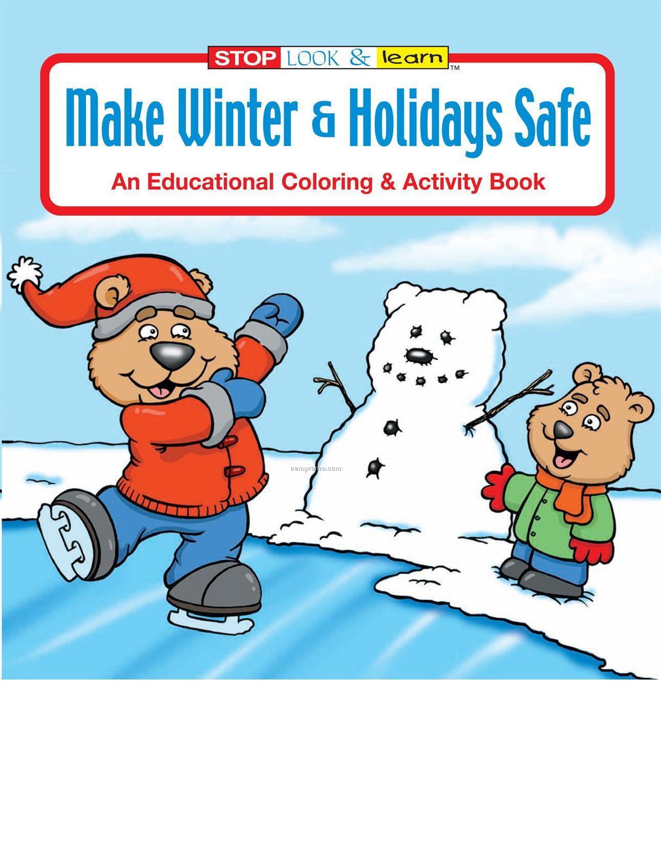 Make Winter & Holidays Safe Coloring Book Fun Pack