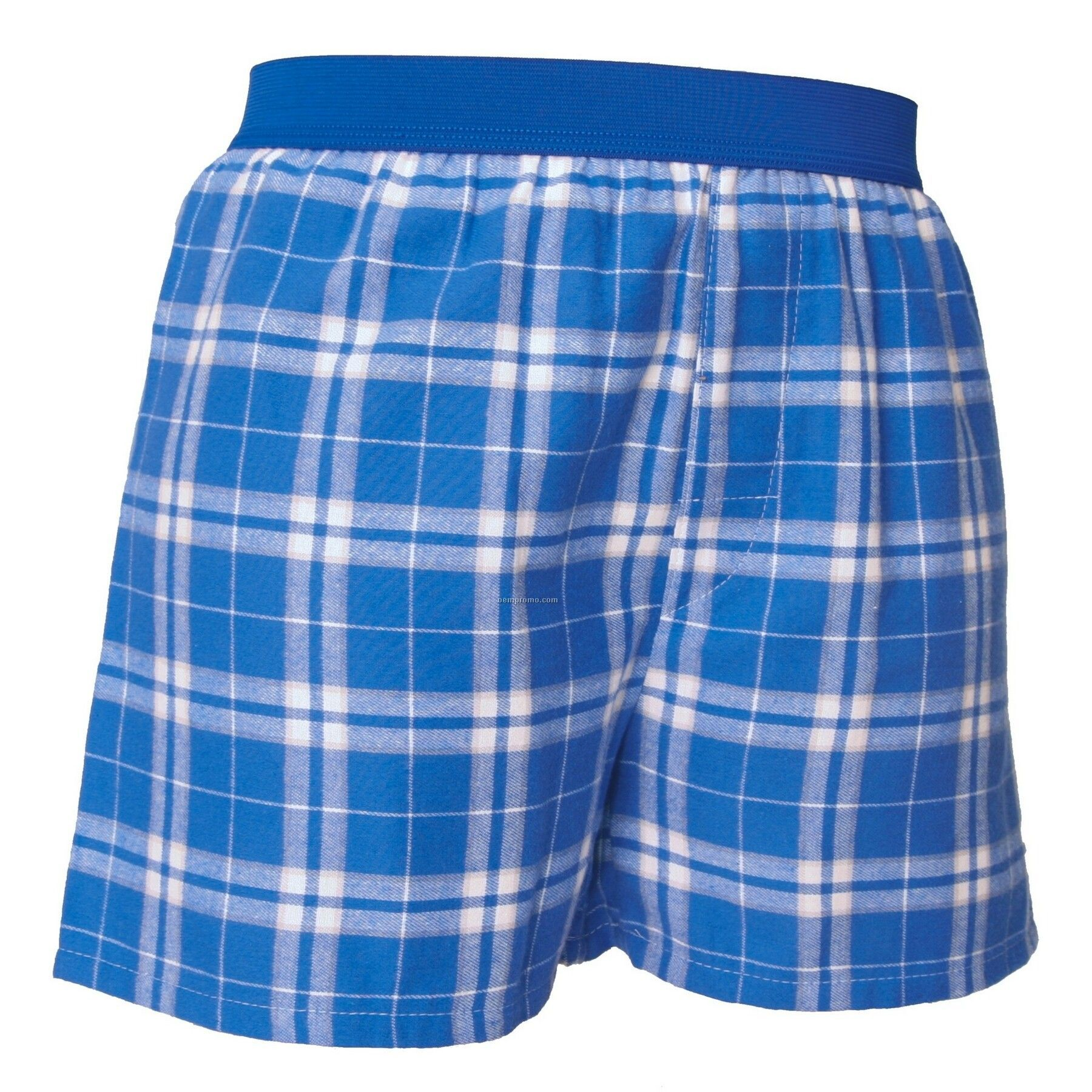 Youth Royal Blue/Silver Plaid Classic Boxer Short