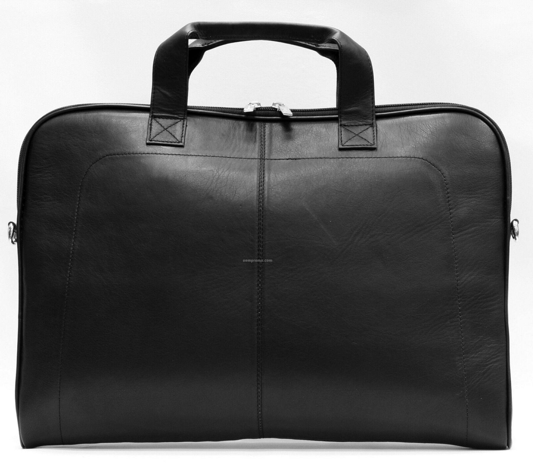 Black Legend Laptop Slim Profile Briefcase