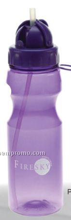 Bpa Free Water Bottle With Retractable Straw
