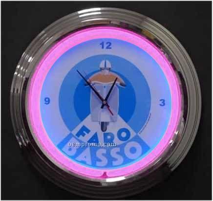 """17"""" Pink Neon Clock"""