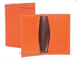 Black Crocodile Leather Business Card Case